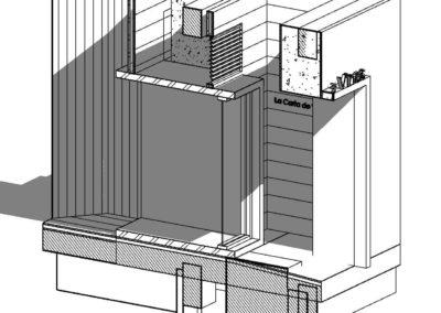 LCV 002 - Vista 3D - 3D sección acceso